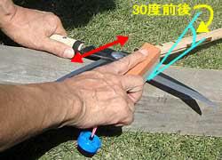 鋏の研ぎ方