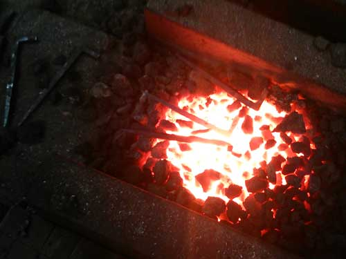 鍛冶屋の仕事場 火造り