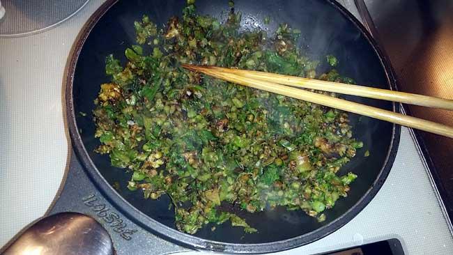 ふき味噌と白菜の古漬け